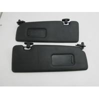 01-06 BMW M3 E46 Convertible #1047 Black Sunvisors Pair
