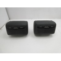 01-06 BMW M3 E46 Convertible #1047 Rear Headrest Pair Black Leather