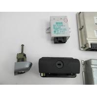 01-06 BMW M3 E46 Convertible #1047 ECU Engine DME Ignition Immobilizer Lock Set