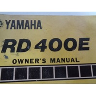 Yamaha Motorcycle OEM RD 400E Owners Manual Part# 1A1-28199-12