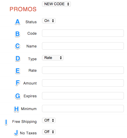 Promo Discount Codes for SureDone eCommerce Storefront