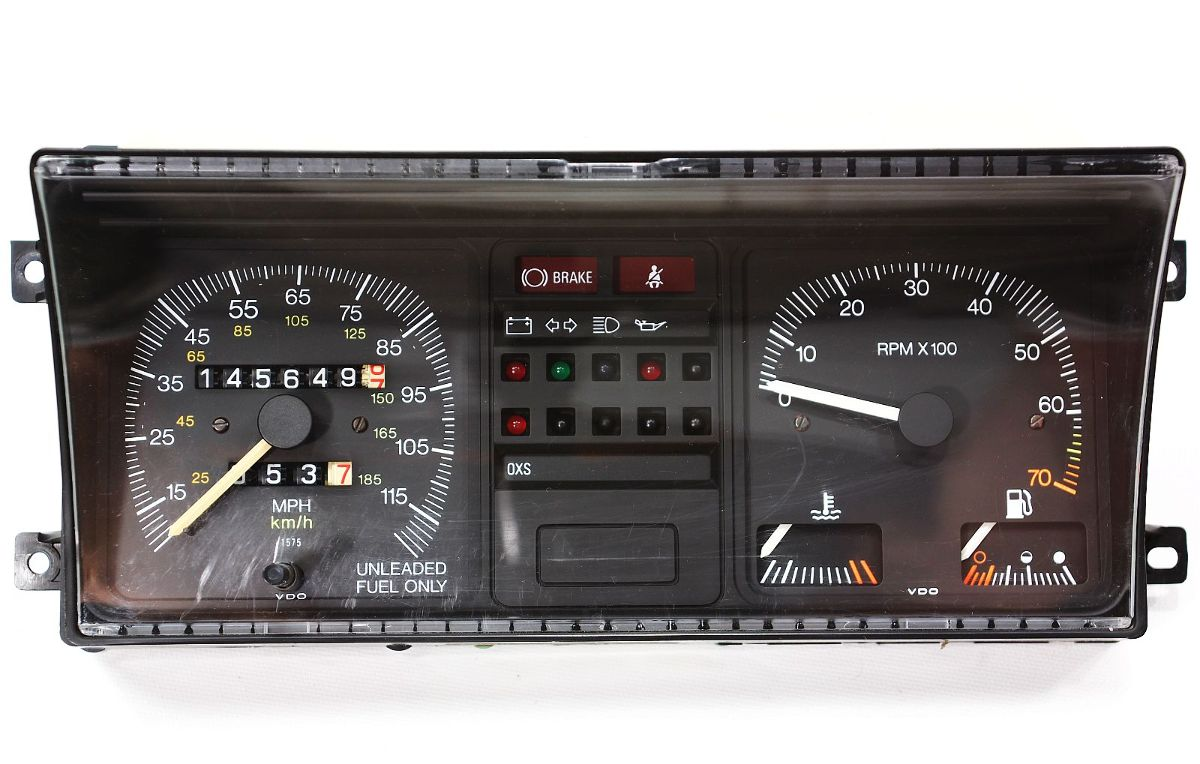 Gauge Instrument Cluster Vw Rabbit Gti Mk1 Speedometer With Tach 120 Mph 1959 Cadillac Wiring Diagram