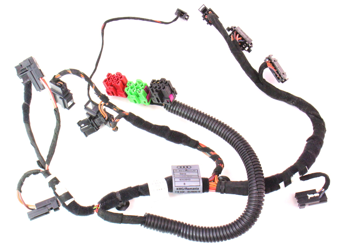 Power Seat Wire Harness Manual Guide Wiring Diagram Manufacturers Lh Front 05 08 Audi A4 B7 8353043 Ebay Board Aircraft