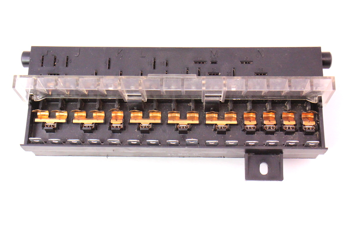 Vw Caddy Mk1 Fuse Box Great Design Of Wiring Diagram 1984 Cabriolet Relay Panel 75 80 Rabbit Scirocco Early Golf Layout