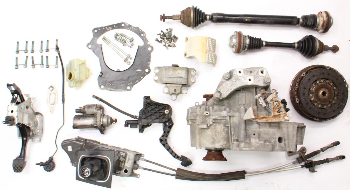 6 Speed Manual Transmission Swap Kit 05-10 VW Jetta GLI GTI MK5 Audi A3  2 0T GVT | CarParts4Sale, Inc