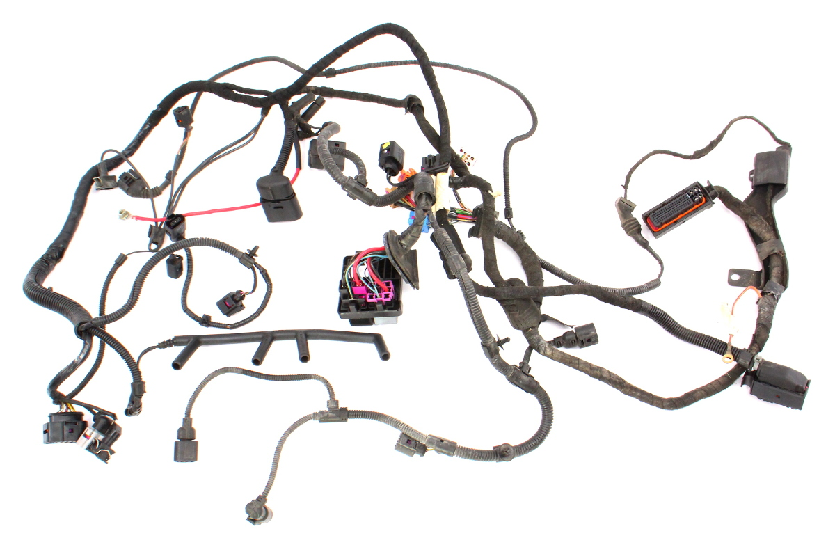 Engine & Engine Bay ECU Wiring Harness 2001 VW Jetta MK4 1 ...