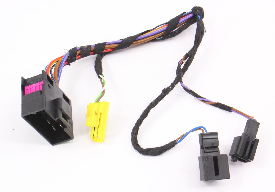 lh front seat wiring harness pigtail plugs connectors 08 10 vw jetta rabbit mk5 carparts4sale, inc  rabbit harness wiring #14