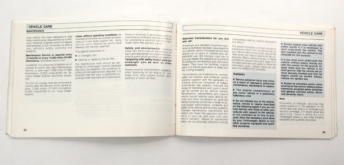 1990 Volkswagen Vw Jetta Owners Manual Book Mk2