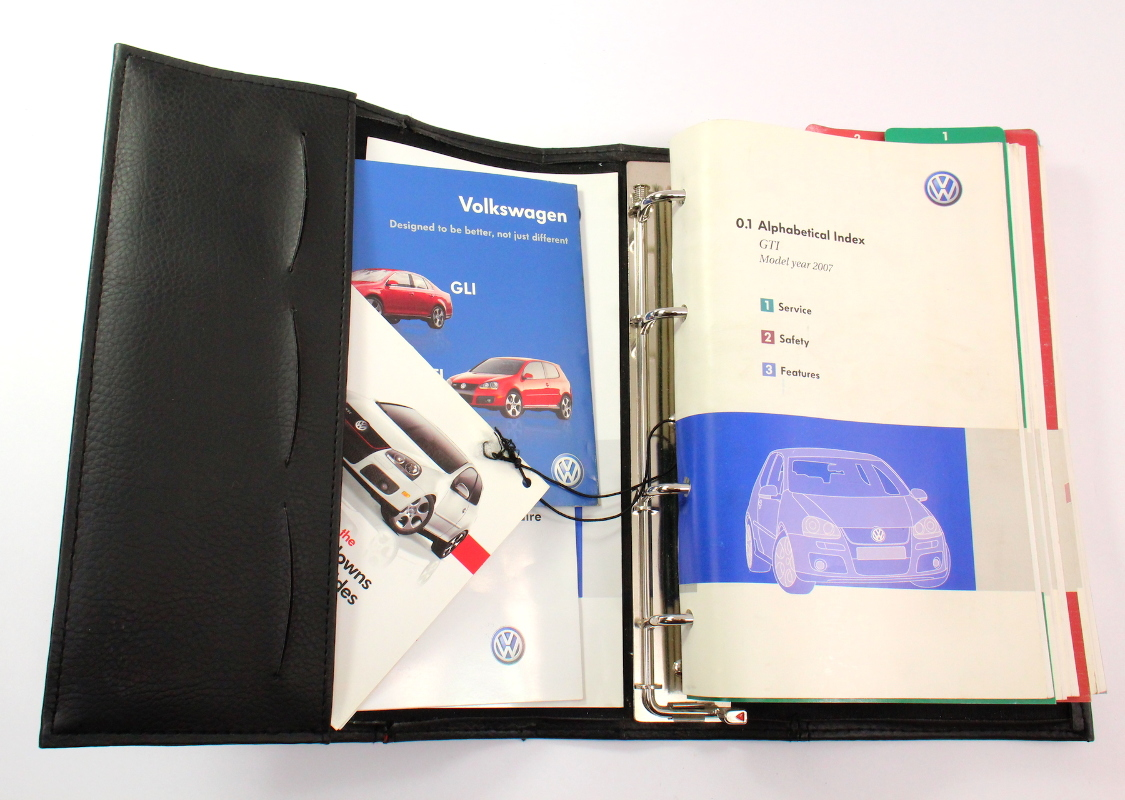 Owners Manual Operations Book 07 2007 Vw Gti Mk5