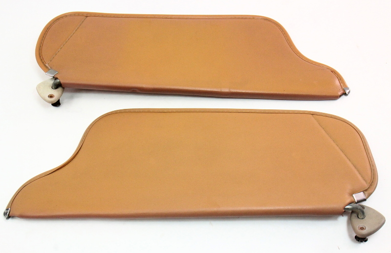 Brown Sun Visor Set Sunvisors 81-84 VW Rabbit Pickup Jetta Mk1 - Genuine