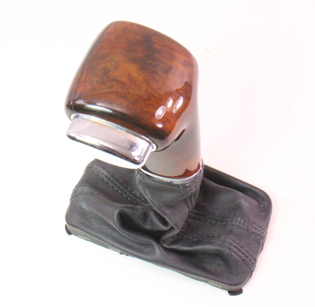 Wood Shifter Shift Knob Handle Selector & Boot 06-10 VW Passat B6 - Genuine