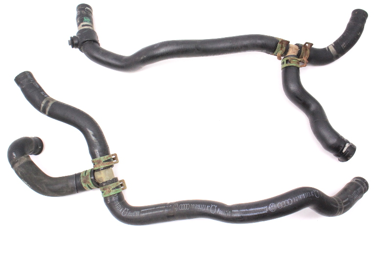 Heater Core Coolant Hoses 92-96 VW Eurovan 2.5 - Genuine - 701 819 378 C / 373 A