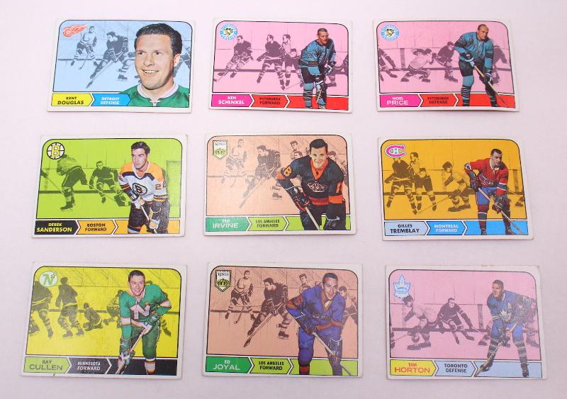 Topps Hockey Cards Kent Douglas Ken Schinkel Noel Price Derek Sanderson Horton