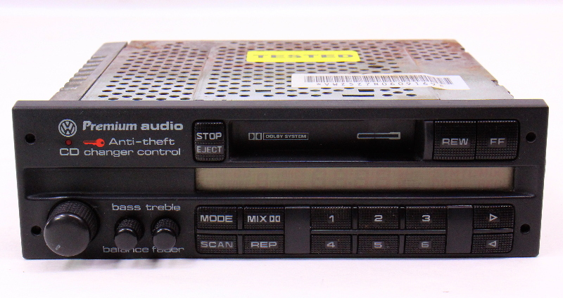 Radio Head Unit Tape Cassette Jetta Golf Mk3 Passat B4