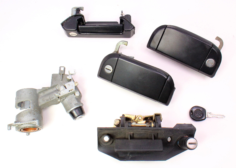 Ignition Door Handle Lock Key Set 92-96 VW Eurovan T4 - Genuine - 701 905 851 A