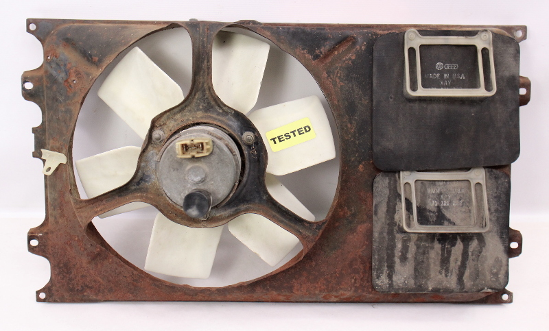 Radiator Cooling Fan Motor & Shroud 85-92 VW Jetta Golf MK2 - 191 959 455 T