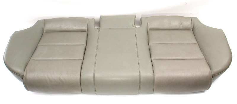 Rear Seat Cushion Cover & Foam 02-08 Audi A4 B6 B7 SEDAN - Grey Leather Bottom
