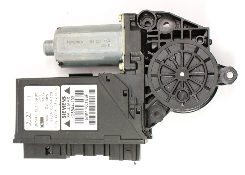 LH Front Window Motor 02-08 Audi A4 S4 RS4 B6 B7 - Genuine - 8E1 959 801