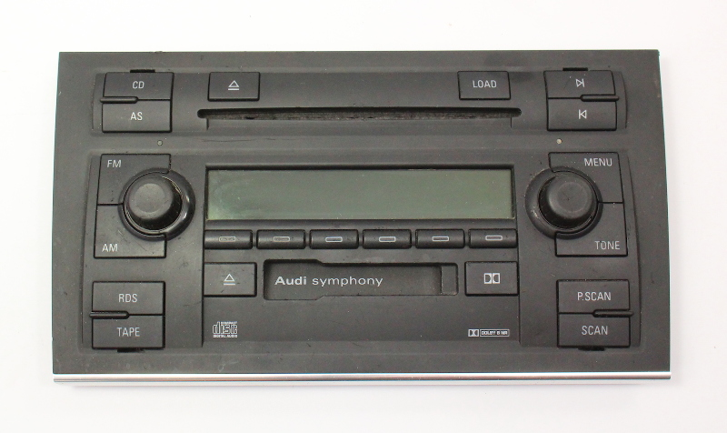 Symphony II Radio Head Unit CD Player Face Plate 02-03 Audi A4 B6 - Genuine