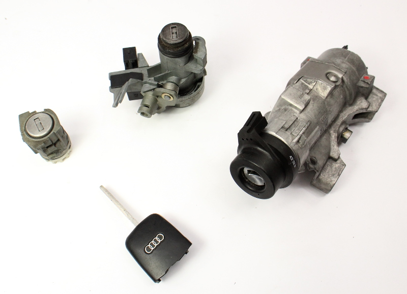 Ignition Door Trunk Lock Key Set 02-05 Audi A4 S4 B6 - Genuine - 4B0 905 851 F