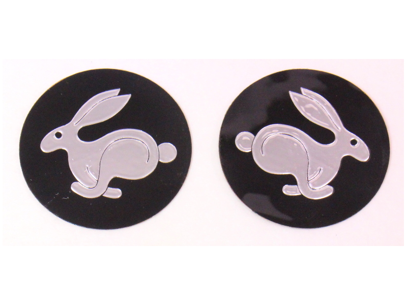 2x NOS Rabbit Center Cap Stickers VW Rabbit MK1 - Genuine - ZVW 154 003