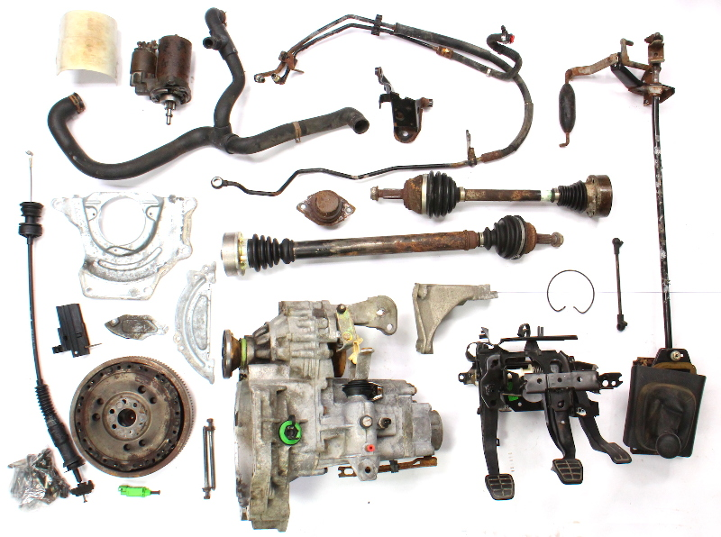 Manual Transmission Swap Parts Kit Vw Jetta Gti Cabrio Mk3 5 Speed 2 0 Aba Dfq