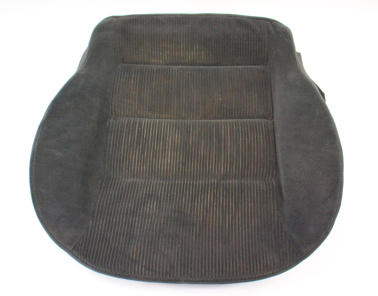 Front Seat Cushion Foam & Cover VW Jetta Golf MK4 Black Cloth - 1J0 881 375 T