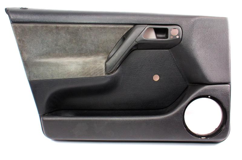 LH Front Interior Door Panel Card 93-99 VW Jetta Golf Mk3 Black 4 Door - Genuine