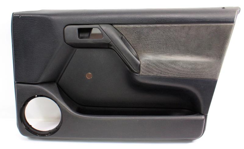 RH Front Interior Door Panel Card 93-99 VW Jetta Golf Mk3 Black 4 Door - Genuine