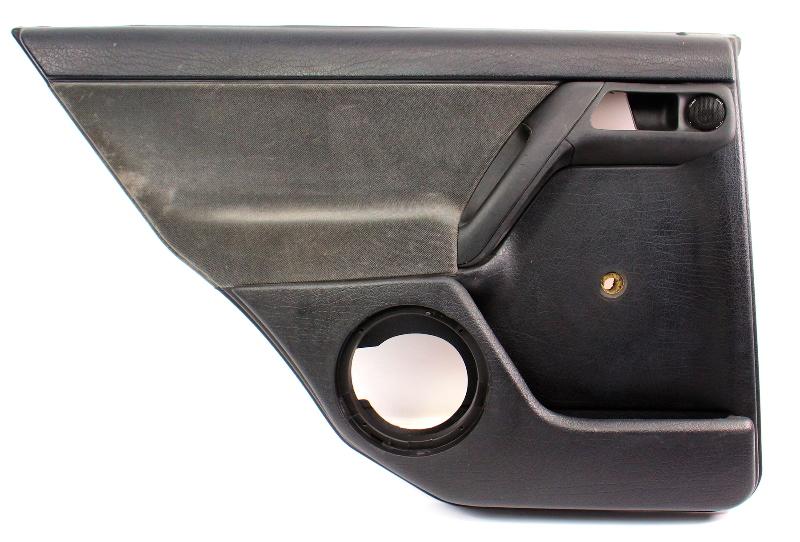 LH Rear Interior Door Panel Card 93-99 VW Jetta Golf Mk3 Black 4 Door - Genuine