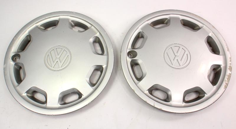 "Genuine Hub Cap Wheel Cover Pair 14"" 93-99 VW Jetta Golf MK3 - 1HM 601 147"