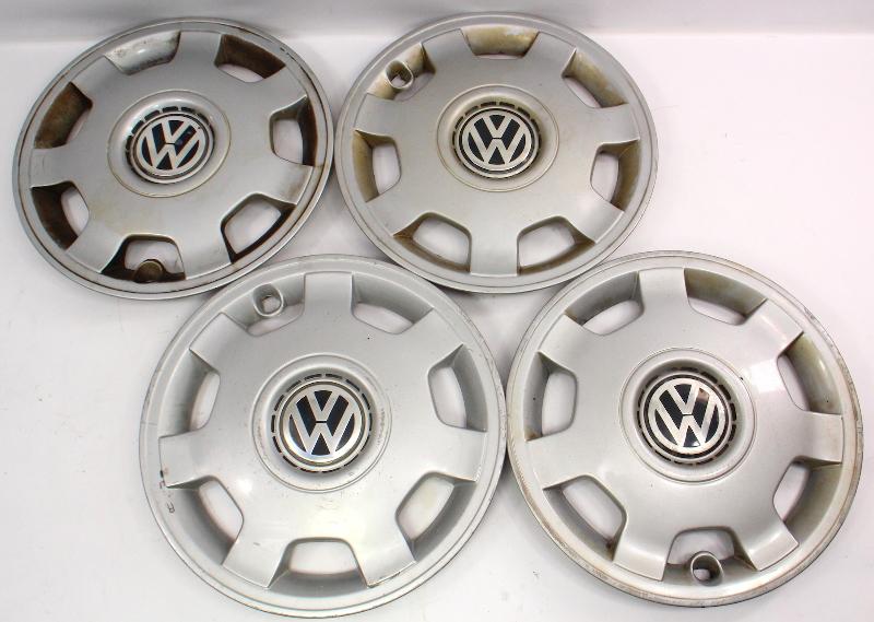 "Genuine Hub Cap Wheel Cover Set 14"" 93-99 VW Jetta Golf MK3 - 6N0 601 147 A"