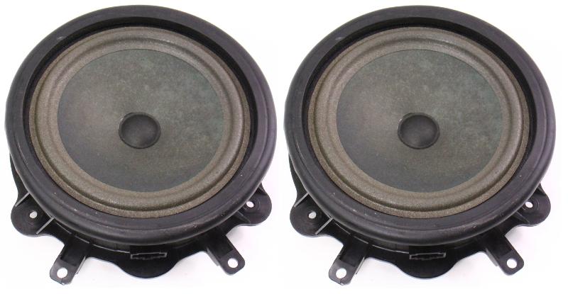 Pair Stock Blaupunkt Door Speakers 06-08 Audi A3 8P - Genuine -  8P0 035 411 B
