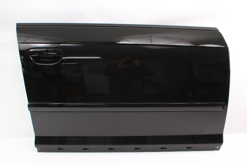 RH Passenger Front Door Shell Skin 06-13 Audi A3 8P - LY9B Brilliant Black -