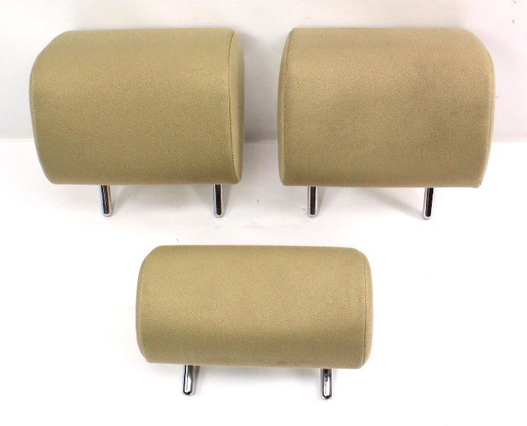 Rear Seat Head Rest Headrest Set 06-13 Audi A3 8P - Beige Cloth