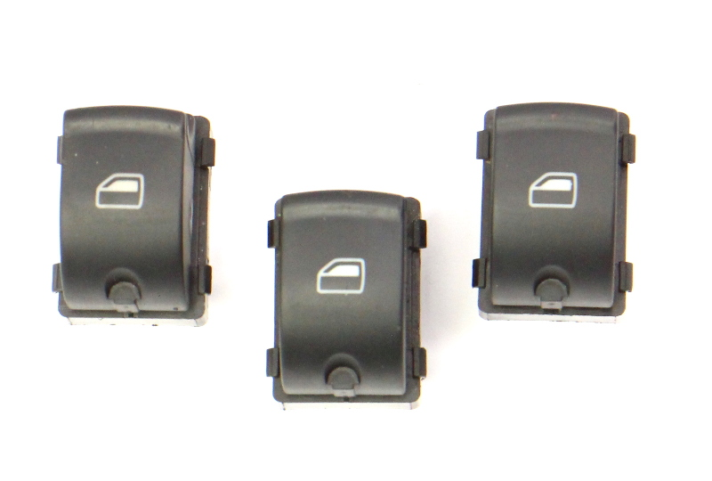 3x Window Switch Button Set 06-13 Audi A3 8P - Genuine -  4F0 959 855