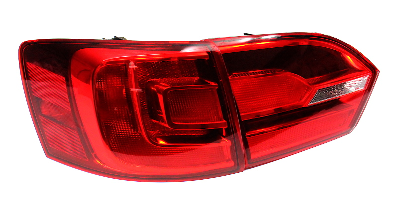 LH Smoked Tail Light Lamp 11-14 VW Jetta GLI Mk6 Sedan - Genuine - 5C6 945 095