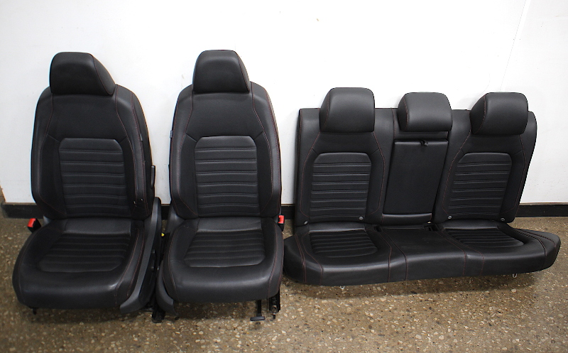 Red Stitched Leather Jetta GLI Sport Seats Interior 2013 VW Jetta MK6 - Genuine