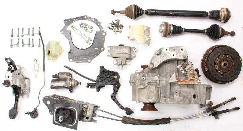 6 Speed Manual Transmission Swap Kit 05-10 VW Jetta GLI GTI MK5 Audi A3 2.0T GVT