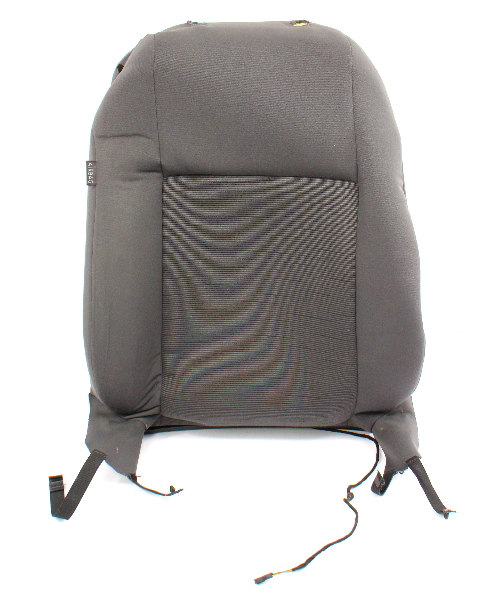 RH Front Seat Backrest Cover & Foam 06-09 VW Rabbit MK5 - Gray Cloth - Genuine