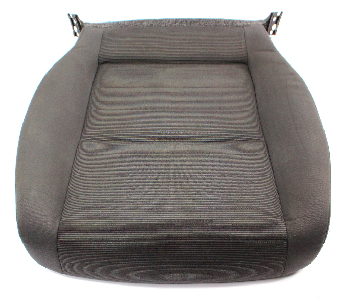 LH Front Seat Cushion Cover & Foam 06-09 VW Rabbit MK5 - Gray Cloth - Genuine