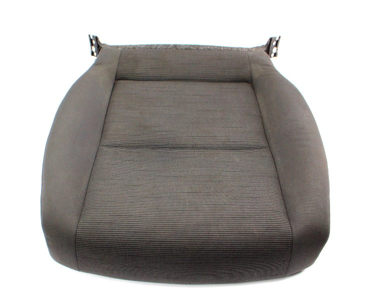 RH Front Seat Cushion Cover & Foam 06-09 VW Rabbit MK5 - Gray Cloth - Genuine