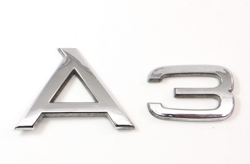 Hatch Trunk Emblems Badges 06-13 Audi A3 2.0T 8P - Genuine -