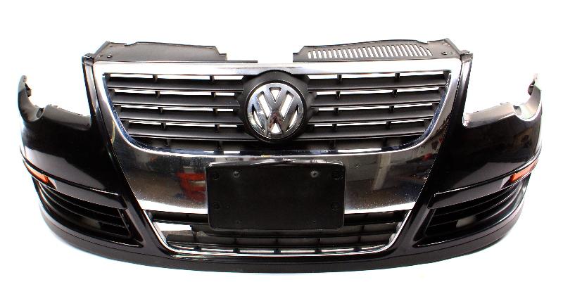 Genuine Front Bumper Cover 06-10 VW Passat B6 LC9X Black Pearl - 3C0 807 221 A