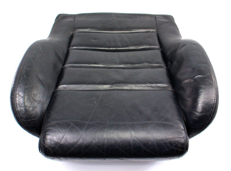 RH Front Black Leather Seat Cushion 00-02 Audi S4 B5 - Sport Seat - Genuine