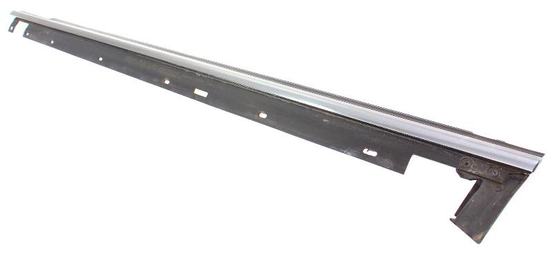LH Front Door Molding Window Scraper Alum Trim 99-02 Audi S4 B5 - 8D0 853 283 B