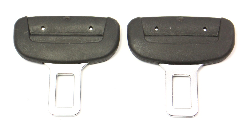 Set of 2 Male Seat Belt Seatbelt Buckle Clip 11-18 VW Jetta MK6