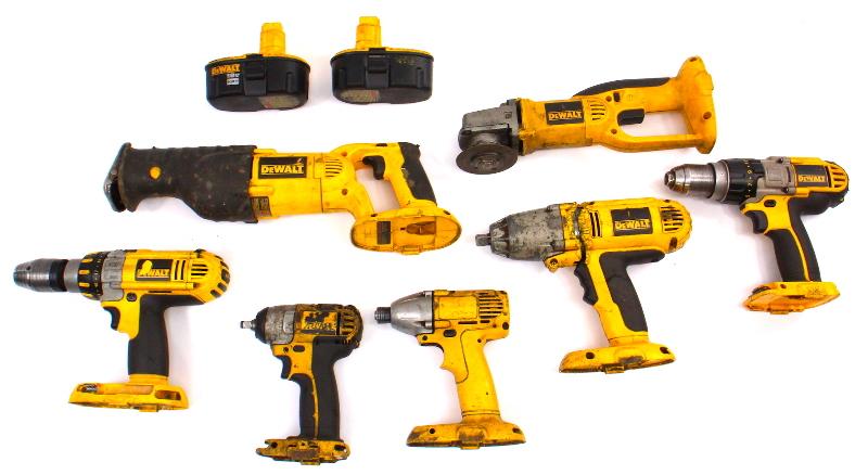 Used & Abused Dewalt Tools 3/8 1/2 Impact Sawzall Drills - FOR PARTS OR REPAIR