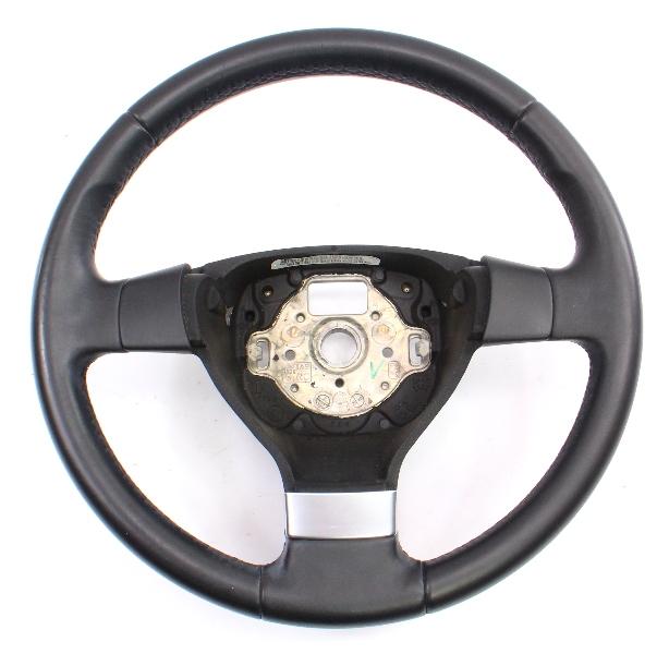 Leather Steering Wheel 05-10 VW Jetta Rabbit MK5 ~ Genuine ~ 1K0 419 091 EQ