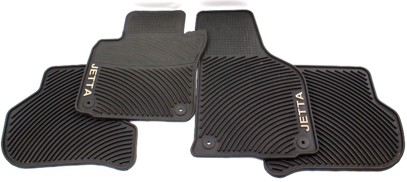 Rubber Monster Floor Mat Set 05-10 VW Jetta MK5 - Genuine - 1KM 061 550 H